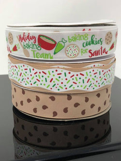 "7/8"" USDR Holiday Baking Ribbon"