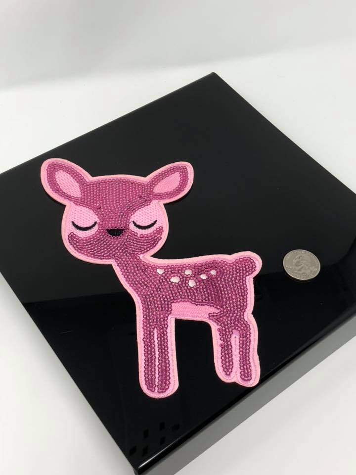 Sequin Iron on Deer Patch