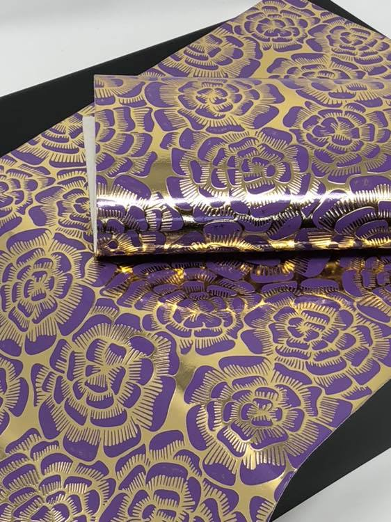 Purple and Gold Floral Sheet
