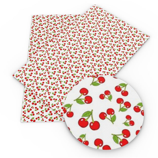 Cherries Faux Leather Sheet