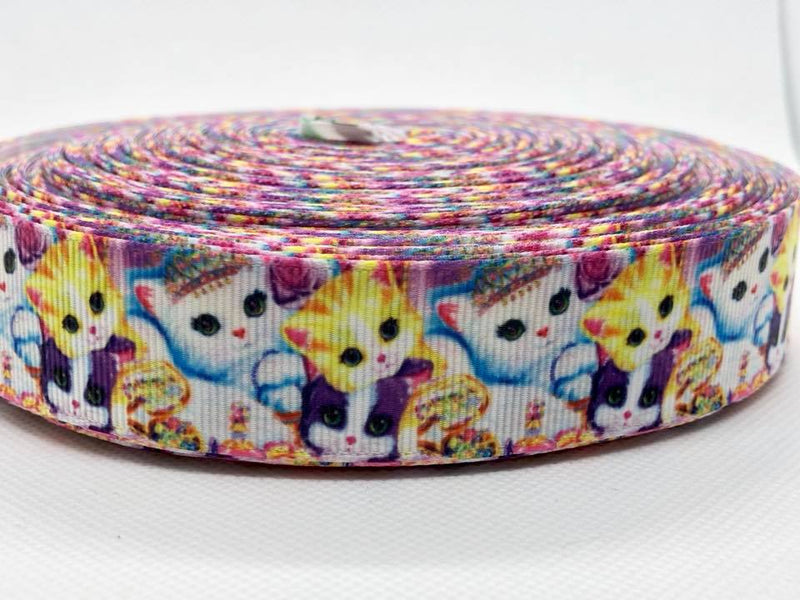 "1"" Rainbow Kittens Ribbon"