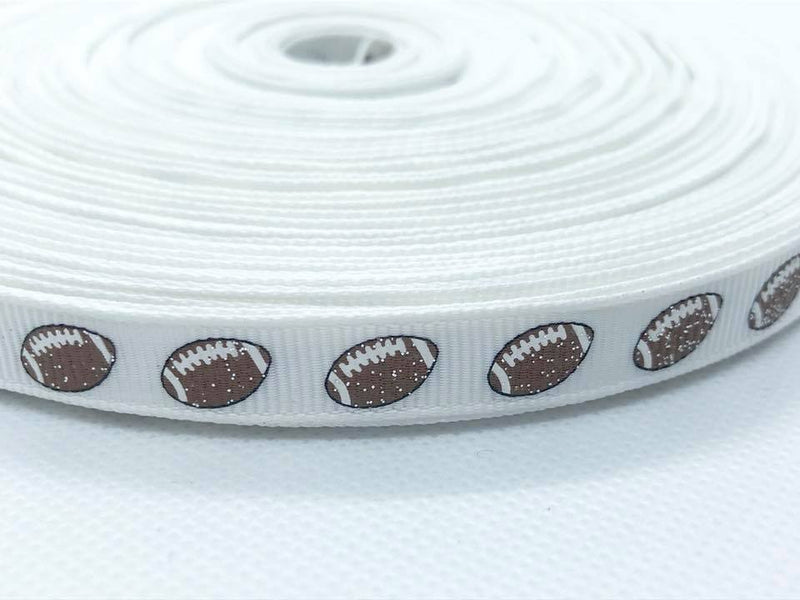 "3/8"" Glitter Football Ribbon"