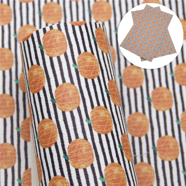 Pumpkin Stripes Litchi Sheet