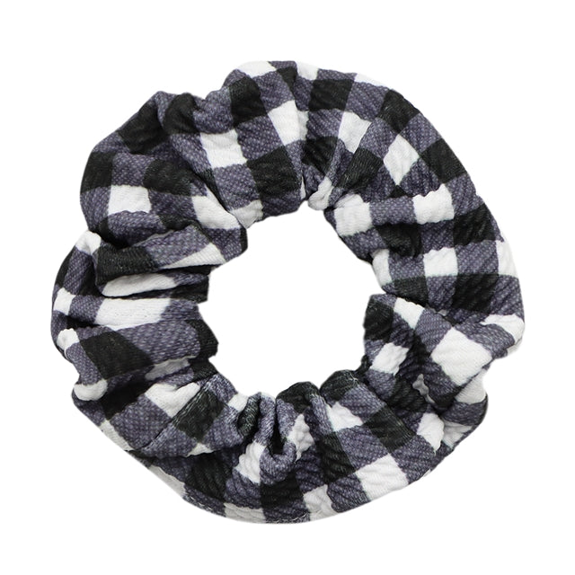 White Buffalo Plaid Bullet Liverpool Scrunchie