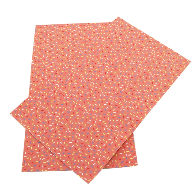 Pink Sprinkles Faux Leather Sheet