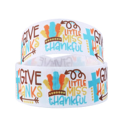 "1"" Little Miss Thankful Ribbon"