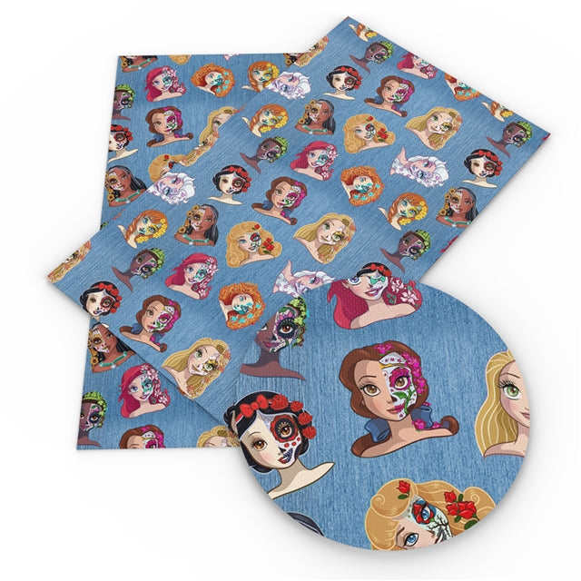 Princess Sugar Skull Faux Leather Sheet