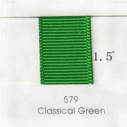 "1.5"" Solid Classical Green Ribbon"