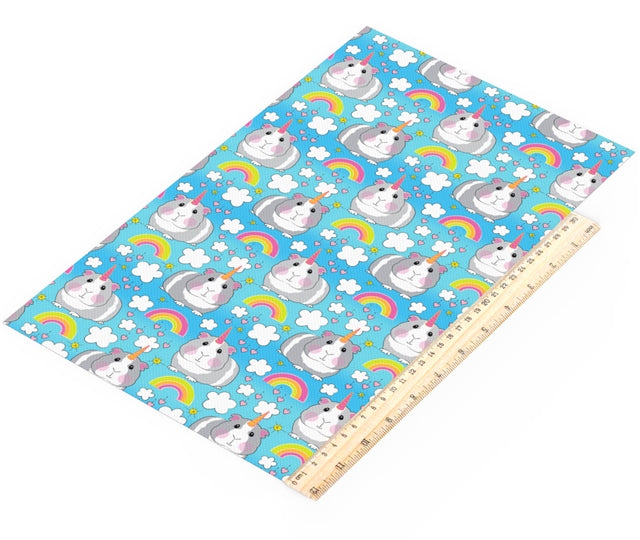 Unicorn Guinea Pig Faux Leather Sheet