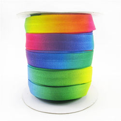 Rainbow Gradient Fold Over Elastic