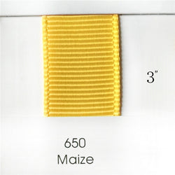 "3"" Solid Maize Ribbon"
