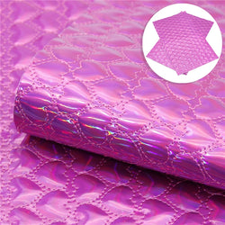 Hot Pink Quilted Laser Hearts Sheet