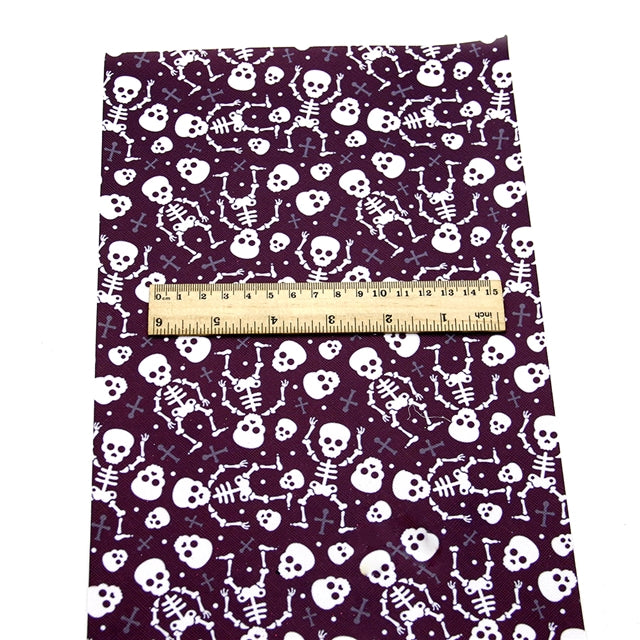 Skeletons Faux Leather Sheet