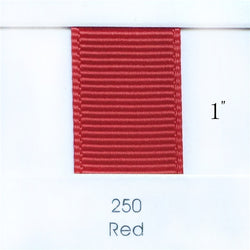 "1"" Solid Red Ribbon"
