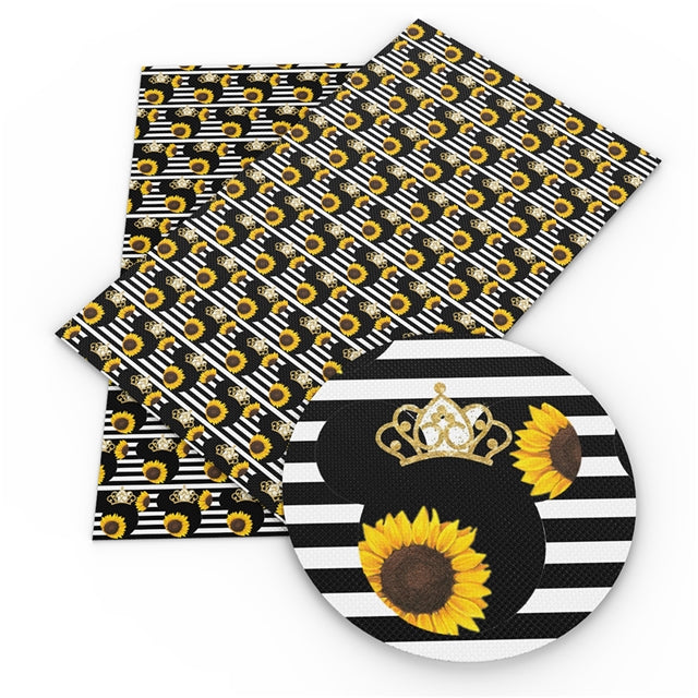 Sunflower Mouse Faux Leather Sheet