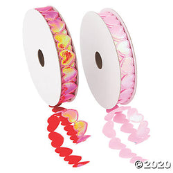 Heart-Shaped Die-Cut Ribbon - 5/8""