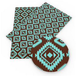 Turquoise and Brown Geometric Sheet