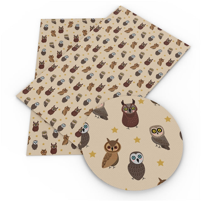 Owls Faux Leather Sheet