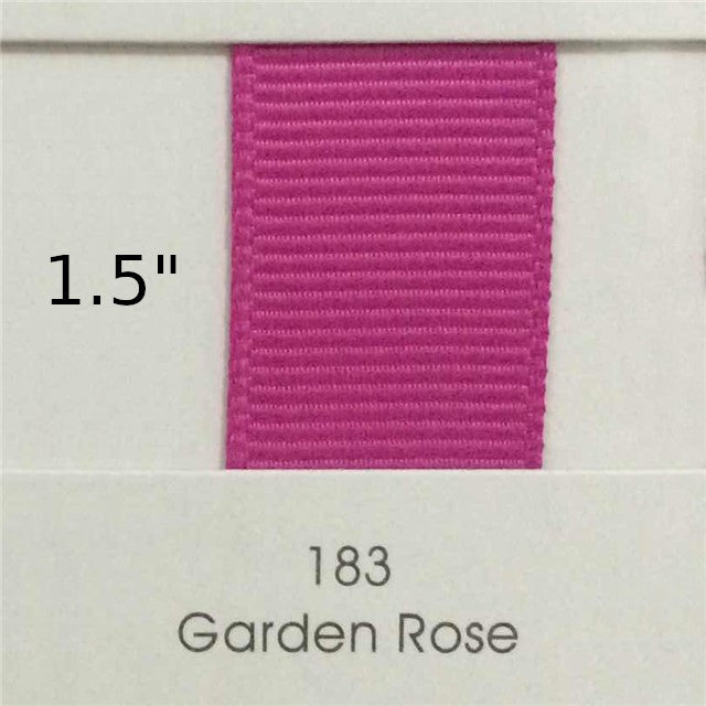 "1.5"" Solid Garden Rose Ribbon"