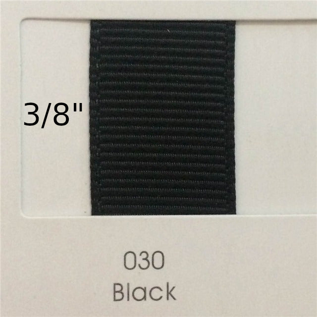 "3/8"" Solid Black Ribbon"