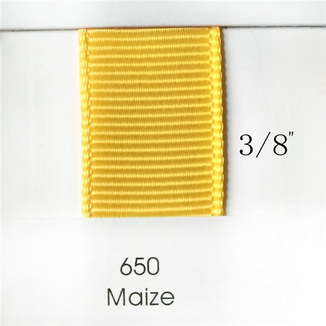 "3/8"" Solid Maize Ribbon"