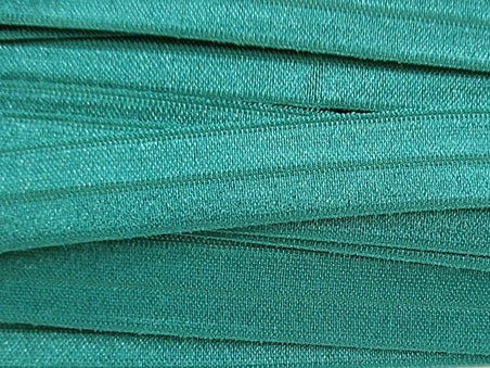 Solid Teal Fold Over Elastic
