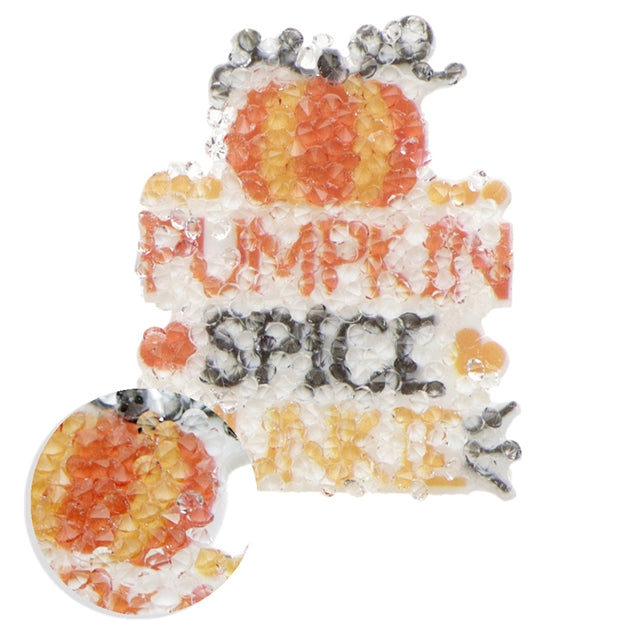 Pumpkin Spice Junkie Diamond Planar Resin