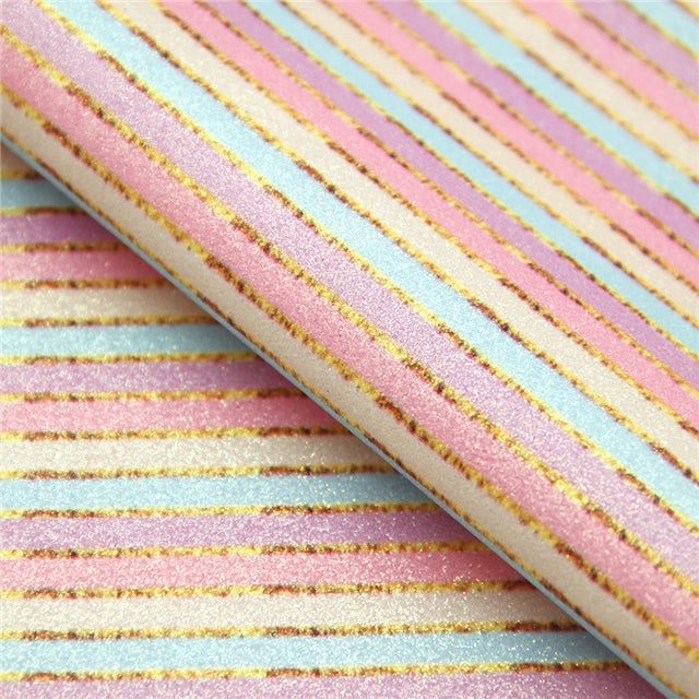 Superfine Glitter Pastel Stripes Sheet