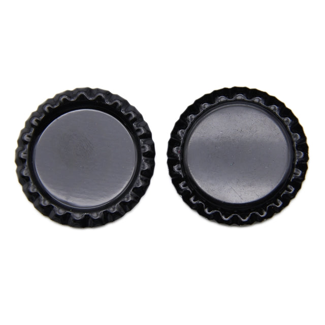 Flattened Bottle Cap - Black