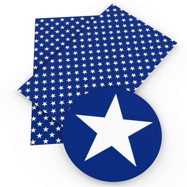 Blue and White Star Sheet