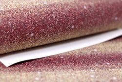 US Designer Faux Glitter Fall Ombre Sheet