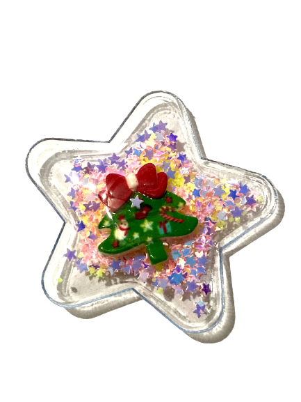 Christmas Star PVC Shaker Applique