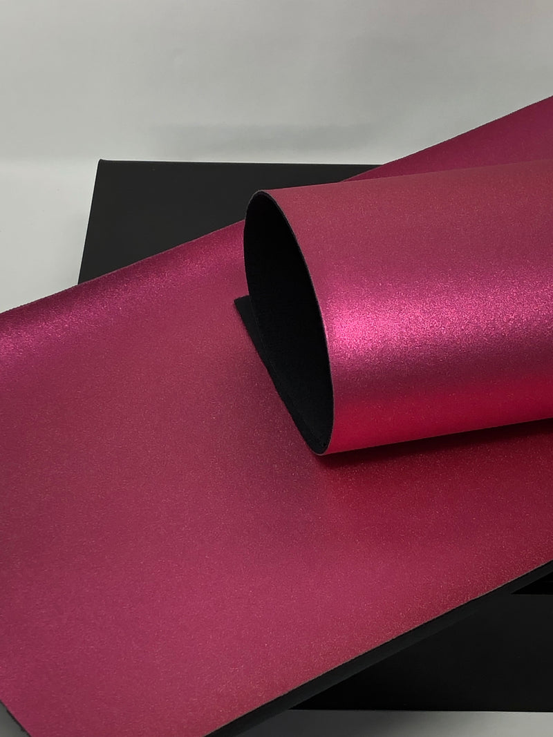 Hot Pink Pearlized Metallic Sheet