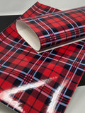 Shiny Red Plaid Sheet