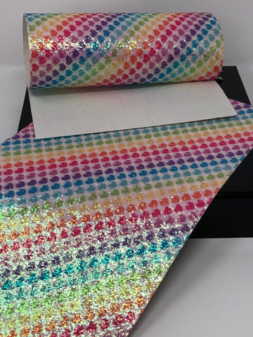 Glitter Rainbow Hearts Sheet