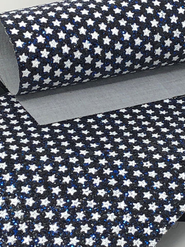 Blue Star Glitter Sheet