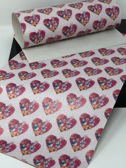 Glitter PVC Sweetheart Ducks Sheet