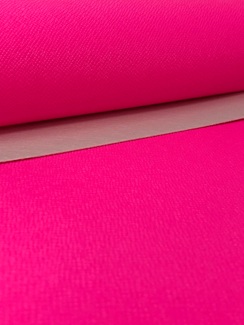 Solid Neon Pink Faux Leather Sheet