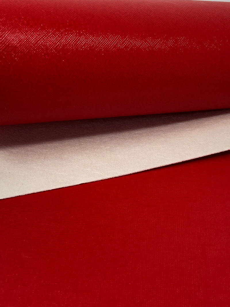 Solid Red Faux Leather Sheet