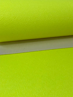 Solid Neon Yellow Faux Leather Sheet