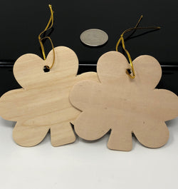 DIY Unfinished Wood Shamrock Ornament