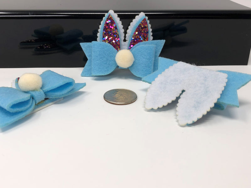 Glitter and Felt Bunny Bow