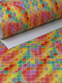 Glitter Yellow Mermaid Scales Sheet