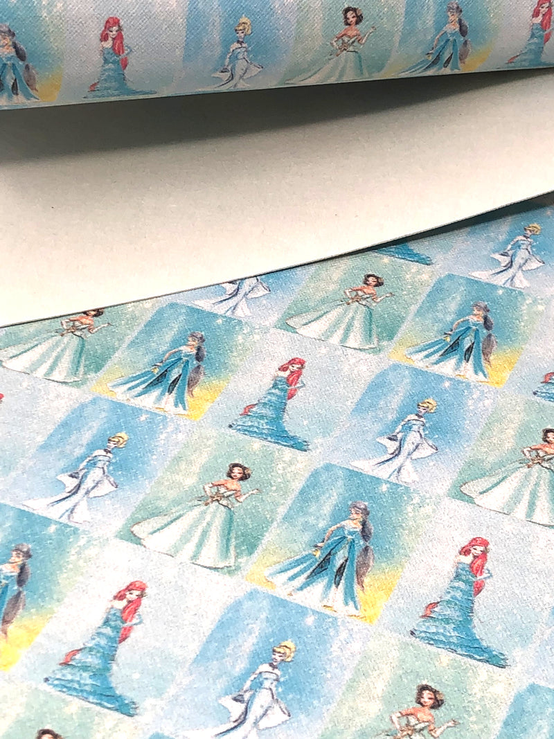Blue Fashion Princess Sheet