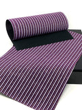 Purple, White and Gold Striped Velvet Sheet