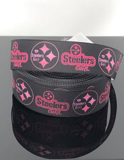 "1"" Steelers Girl Ribbon"