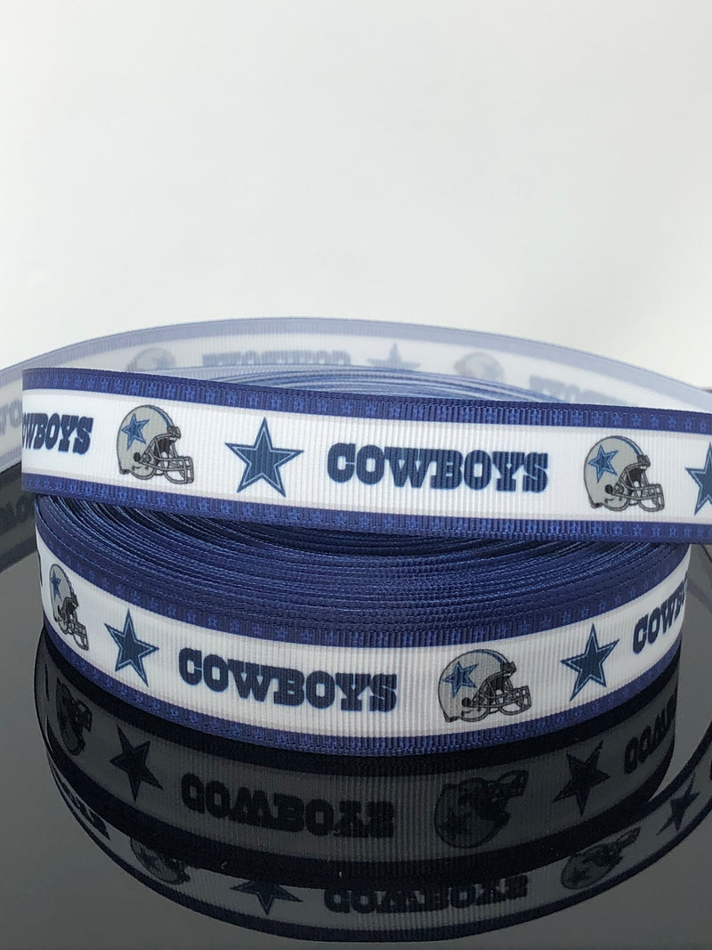 "7/8"" Cowboys Ribbon"
