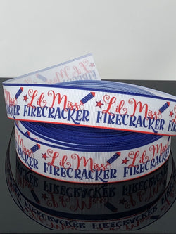 "1"" Lil Miss Firecracker Ribbon"