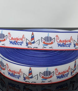 "1"" Magical 'Merica Sleeping Unicorns Ribbon"