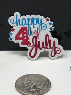 Happy Fourth of July Planar Resin